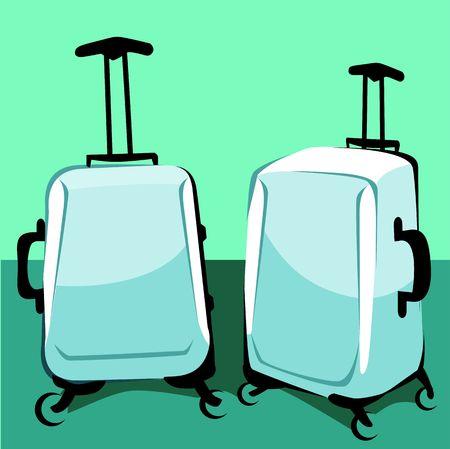 wayfarer: Illustration of two trolley bags