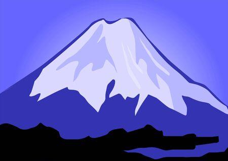 Illustration of the cliffs of mount Everest Stock Illustration - 3388386