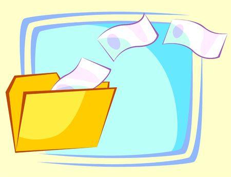 Illustration of folder in currency  illustration