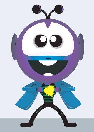 Illustration of a antenna head character Stock Illustration - 3388859
