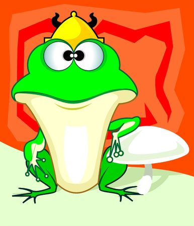 imaginativeness: Illustration of fantasy of a frog  Stock Photo