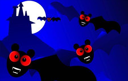 Illustration of fantasy of a bats  illustration