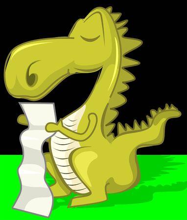 imaginativeness: Illustration of fantasy of a dinosaur