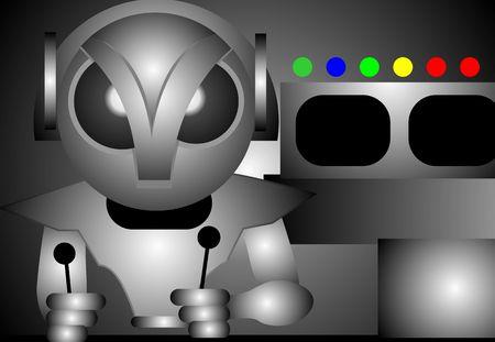 imaginativeness: Illustration of fantasy of alien in control console