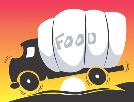 Illustration of food carrying truck  illustration