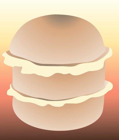 take away: Illustration of cheese hamburger