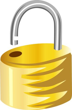 Illustration of brass padlock Stock Illustration - 3389450