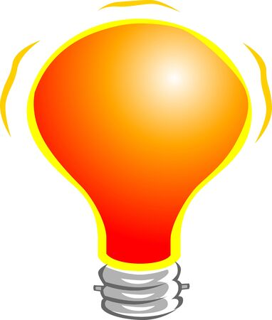 incandescent: Illustration of orange colour bulb
