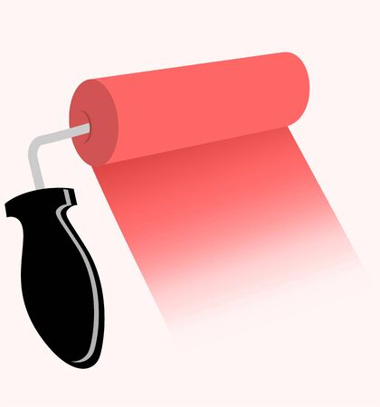 Illustration of a painting roller Stock Illustration - 3389453
