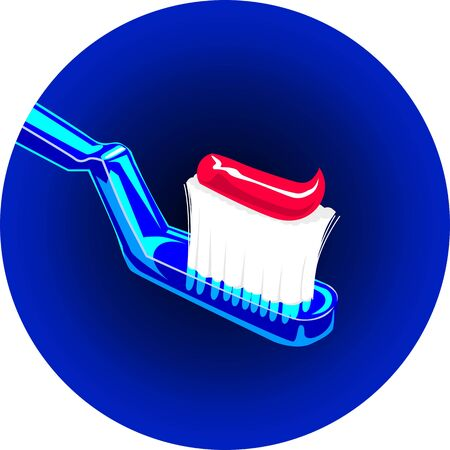 body concern: Illustration of tooth paste and tooth brush