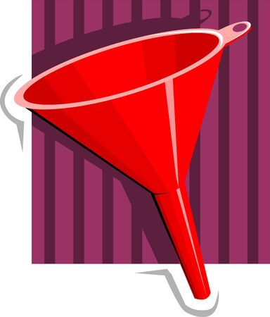 Illustration of a red colour funnel