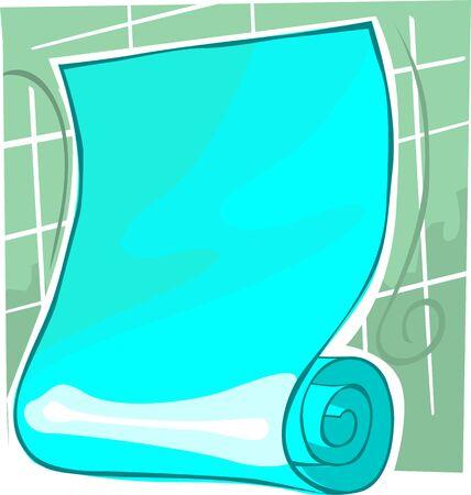 scrutinise: Illustration of blue colour manuscript