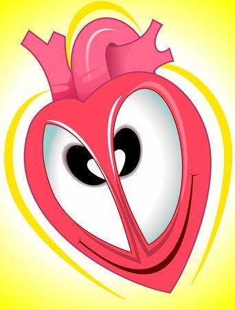 imaginativeness: Illustration of heart with eye