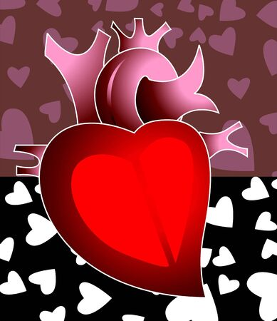 imaginativeness: Illustration of heartIn  symbols Stock Photo