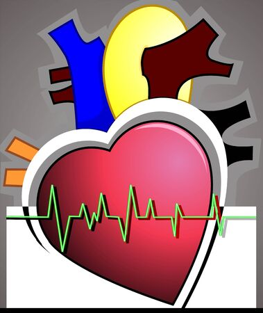 imaginativeness: Illustration of heart with pulse graph