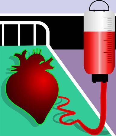 Illustration of heart accepting blood Stock Illustration - 3389681