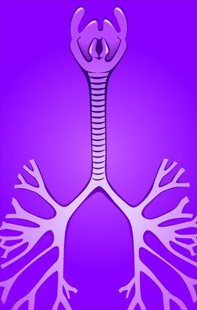 gullet: Ilustraci�n de fondo azul en la garganta