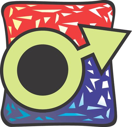Illustration of logo of chromosome  illustration