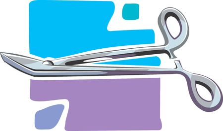 medicate: Illustration of surgical scissors