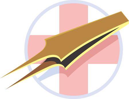 clipper: Illustration of medical instrument, clipper in medical industry