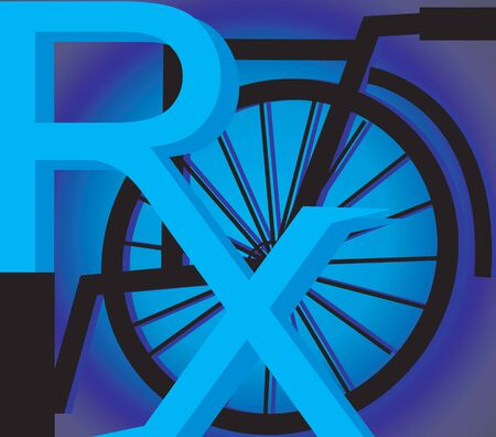 wheel chair: Illustration of a wheel chair near a medical symbol  Stock Photo