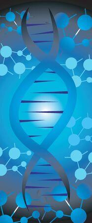 Illustration of a DNA symbol  illustration