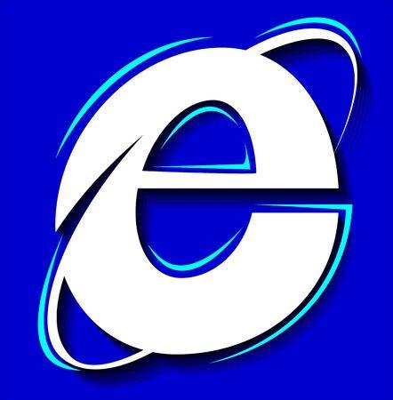 web portal: Illustration of a symbol of internet in blue