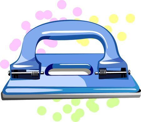 pierce: Illustration of a blue coloured paper punch
