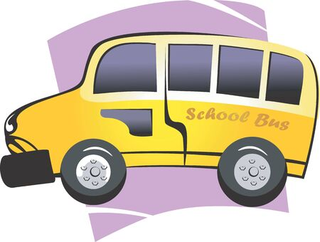 Illustration of a yellow school bus Automobile