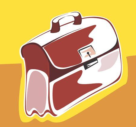 saddlebag: Illustration of a leather bag