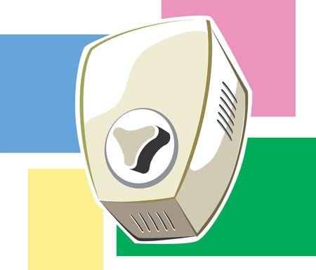 rotator: Illustration of a fan regulator  Stock Photo