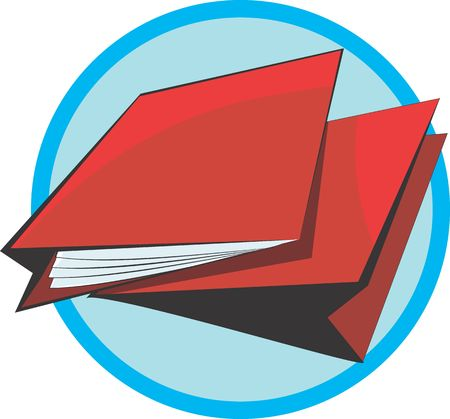 scrutinise: Illustration of two red cover files