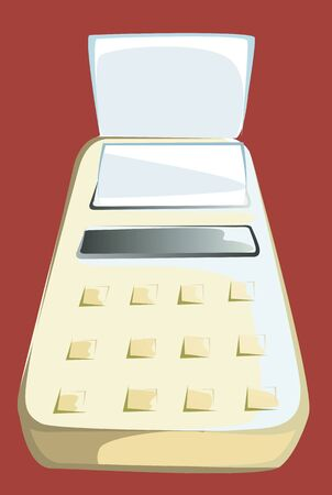 Illustration of a printer using by accountants Stock Illustration - 3389967