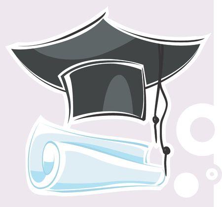 certification: Illustration of a bachelor award costume