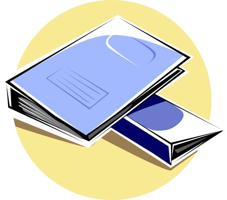 scrutinise: Illustration of two blue colour folders  Stock Photo