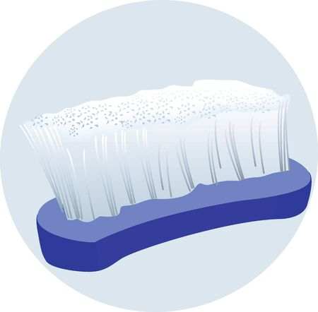 bristles: Illustration of a blue brush with white bristles