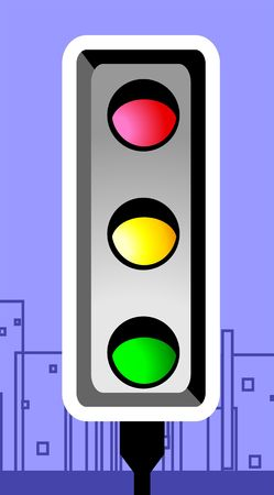 way to go: Illustration of a traffic signal