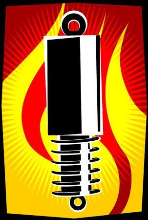 shock absorber: Illustration of a shock absorber  Stock Photo
