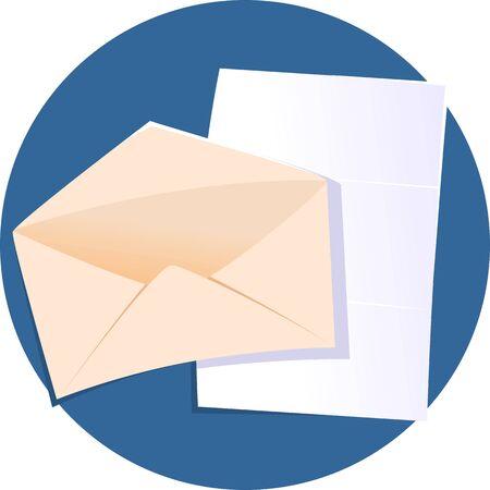 addressee: Illustration of a  envelope for mail