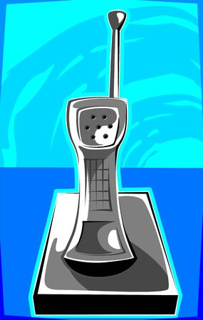 Illustration of a cordless telephone  Stock Illustration - 3390467