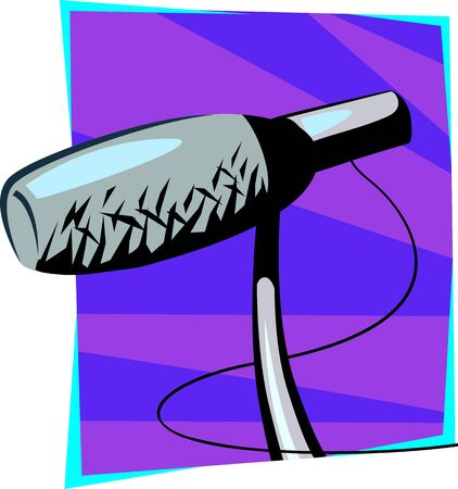 Illustration of a symbol of microphone  illustration