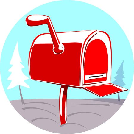 Illustration of a  post box for mail