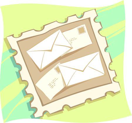 postoffice: Illustration of a envelopes for mail  Stock Photo