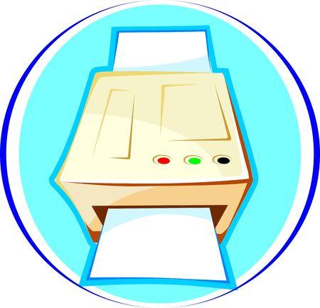 photocopy: Illustration of a photocopy machine