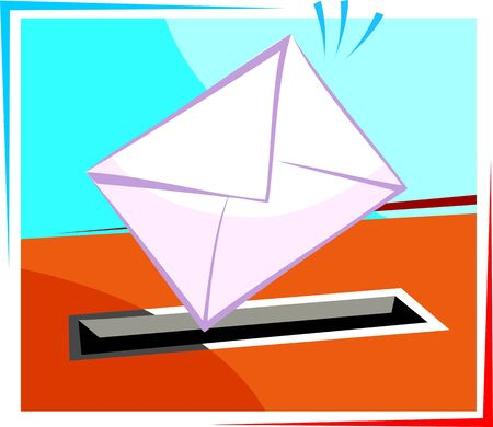 Illustration of a  envelope for mail  illustration