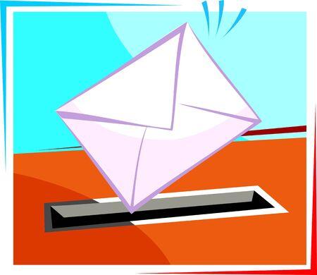 postoffice: Illustration of a  envelope for mail