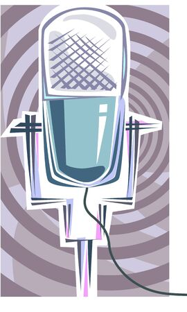 Illustration of a symbol of microphone  illustration