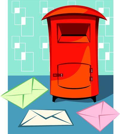 postoffice: Illustration of a  envelopes for mail