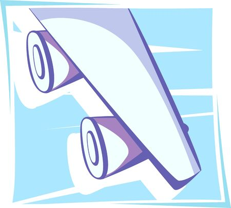 aviations: Illustration of wing of an aeroplane  Stock Photo