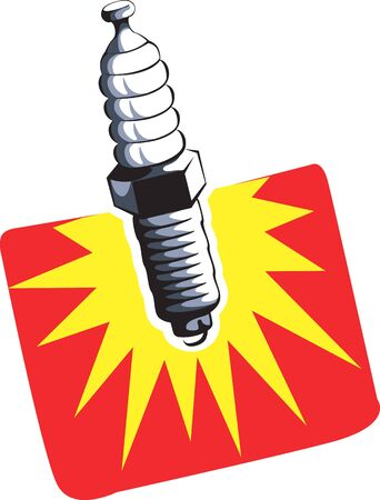 fire plug: Illustration of a spark plug using for ignition  Stock Photo